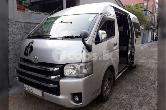 Toyota KDH High Roof Van for Hire