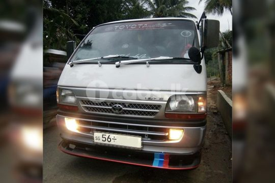 Toyota Dolpin Van for Hire in Kegalle